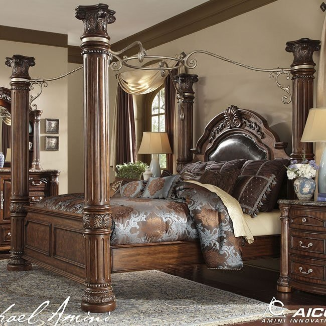 Monte Carlo Ii Canopy Poster Bed Cafe Noir Aico Furniture Furniture Cart