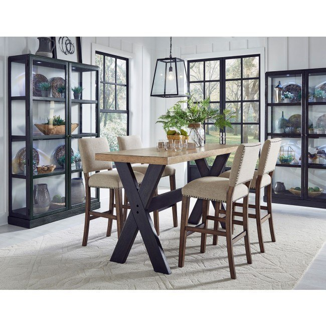 The Art of Dining Narrow Bar Height Dining Room Set