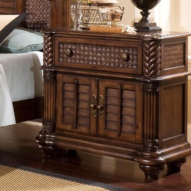Palm Court Bedside Chest Coco Brown Progressive Furniture Furniture Cart