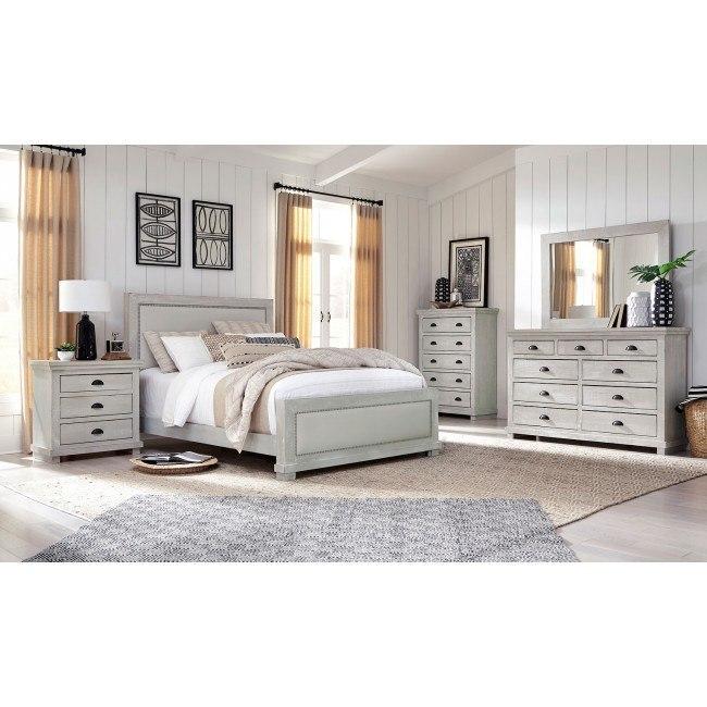 Willow Upholstered Bedroom Set Gray Chalk Progressive Furniture 4 Reviews Furniture Cart