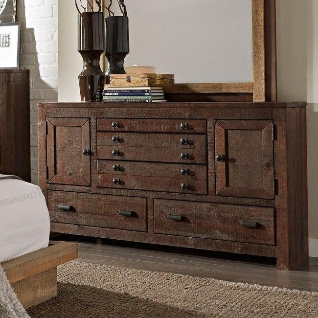 Trilogy Drawer Dresser (Distressed Dark Pine)