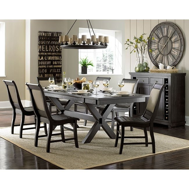 willow dining room | Willow Rectangular Dining Room Set W/ Upholstered Chairs ...