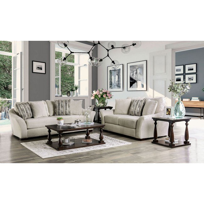 Oacoma Living Room Set Off White Furniture Of America