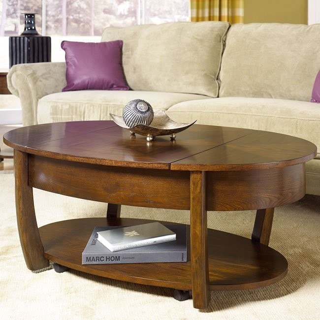 Concierge Oval Lift Top Tail Table
