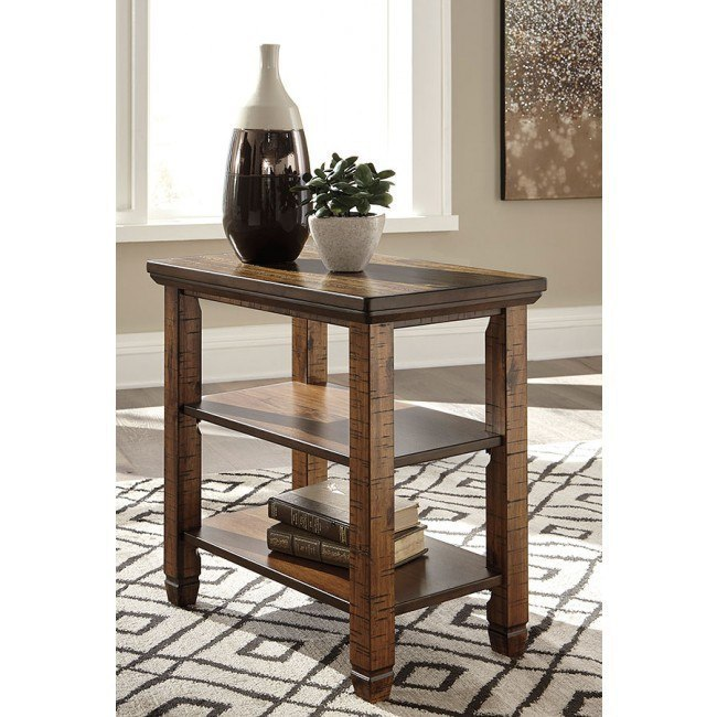 Royard Chair Side End Table Signature Design Furniture Cart