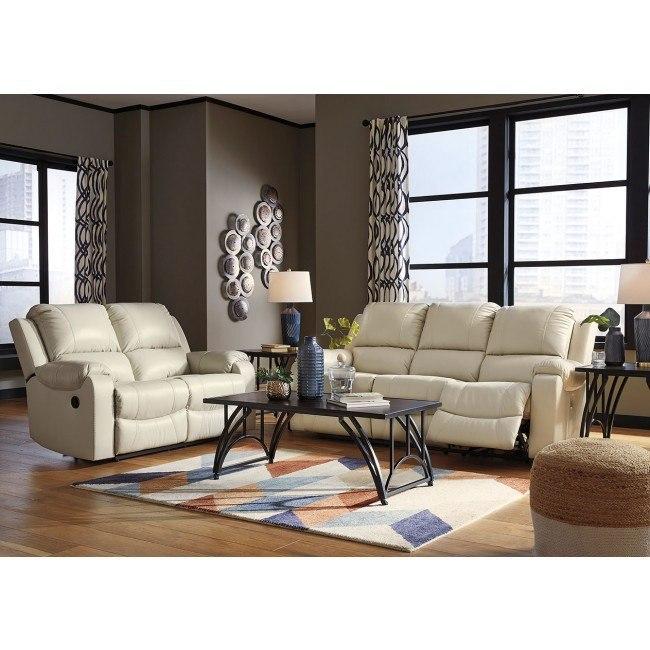 Rackingburg Cream Power Reclining Living Room Set