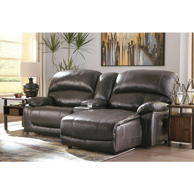 Gray Small Reclining Sectional