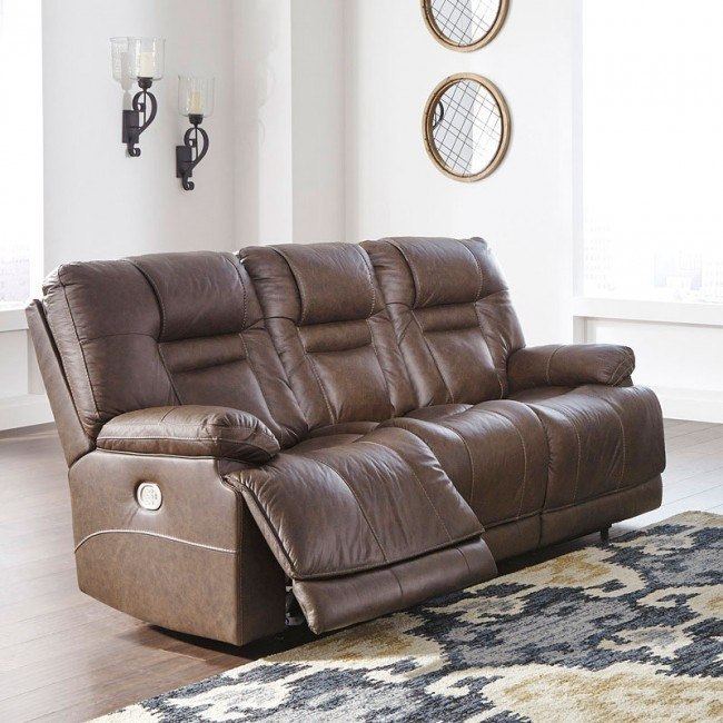 Super Wurstrow Umber Power Reclining Sofa W Adjustable Headrests Gmtry Best Dining Table And Chair Ideas Images Gmtryco