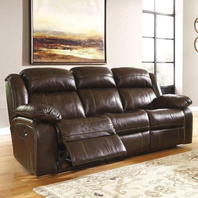 Branton Antique Power Reclining Sofa Signature Design