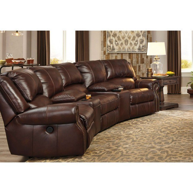 Peachy Collinsville Chestnut Reclining Home Theater Sectional Pdpeps Interior Chair Design Pdpepsorg