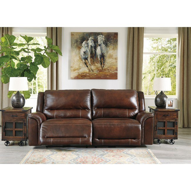 Terrific Catanzaro Mahogany Power Reclining Sofa W Adjustable Headrests Caraccident5 Cool Chair Designs And Ideas Caraccident5Info