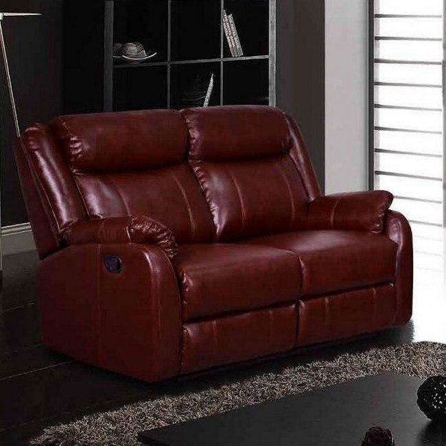 Admirable U9303 Reclining Loveseat Burgundy Inzonedesignstudio Interior Chair Design Inzonedesignstudiocom