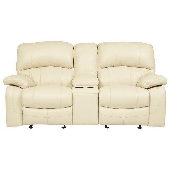 Admirable Damacio Cream Glider Reclining Loveseat W Console Uwap Interior Chair Design Uwaporg