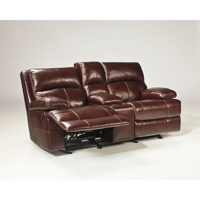 Awe Inspiring Lensar Burgundy Glider Reclining Loveseat W Power Inzonedesignstudio Interior Chair Design Inzonedesignstudiocom