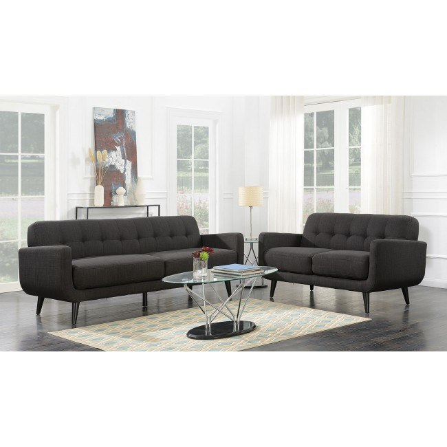 Hadley Living Room Set (Charcoal)