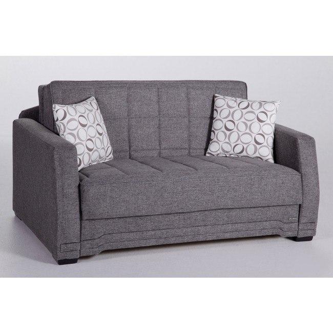 Strange Valerie Love Seat Sleeper Diego Gray Creativecarmelina Interior Chair Design Creativecarmelinacom