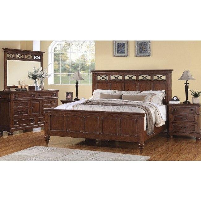 American Heritage Bedroom Furniture: American Heritage Panel Bedroom Set Flexsteel