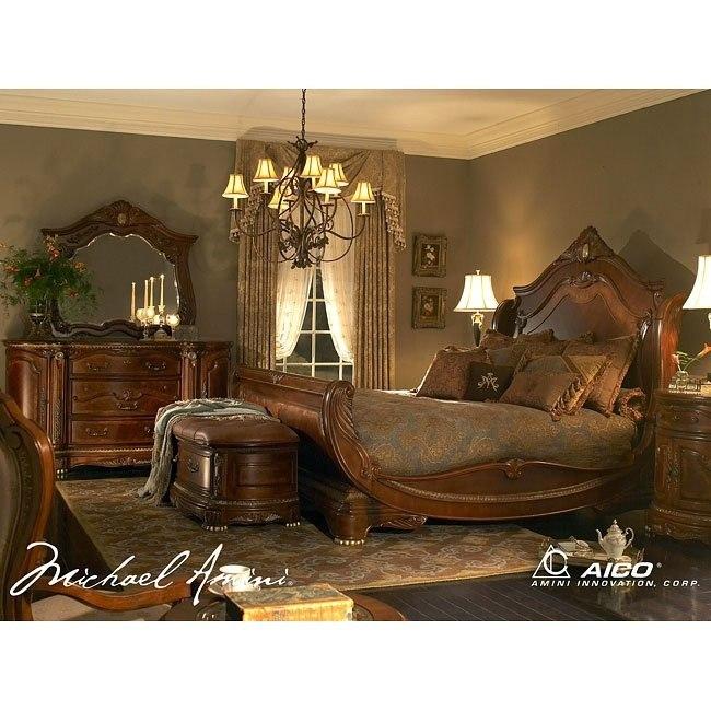 Cortina Sleigh Bedroom Set Aico Furniture 3 Reviews Furniture Cart