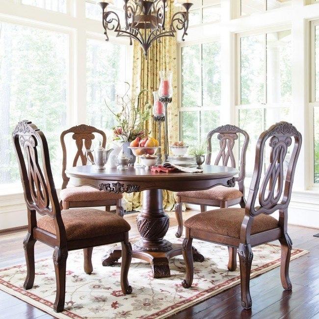 North Shore Round Dining Room Set Millennium 4 Reviews Furniture Cart