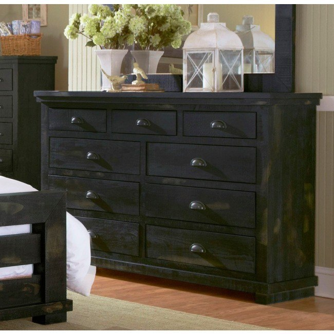 Willow Drawer Dresser (Distressed Black)
