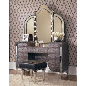 Hollywood Swank Vanity W/ Mirror (Amazing Gator)