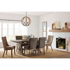 Missouri Round Dining Room Set Rustic Oak Eci Furniture
