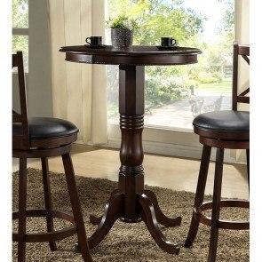 Distressed Walnut Pub Table W/ Adjustable Height