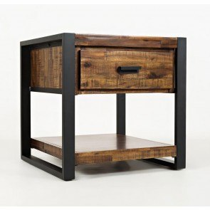 Joel Chairside End Table Oak Steve Silver Furniture