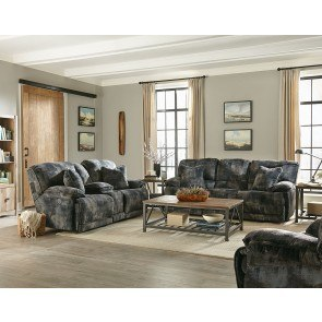 Zella Charcoal Sectional Living Room Set Signature
