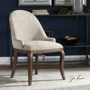 Flared Stationary Accent Chair Tan Coaster Furniture