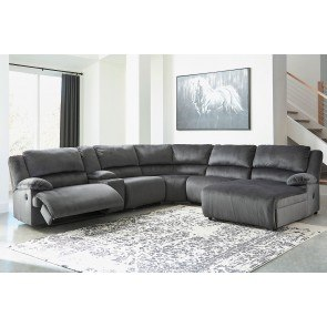 Delta City Rust Left Chaise Sectional Benchcraft 1