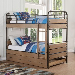 Stages Twin Twin Loft Bed W Left Steps Signature Design
