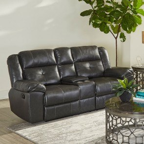 Cortez Reclining Loveseat W Console Red Catnapper