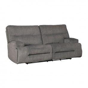 Oberson Gunsmoke Reclining Power Sofa Signature Design 1