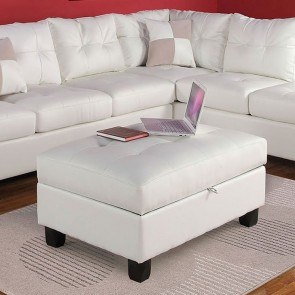 Canyon Ottoman In Dark Brown Microsuede Klaussner