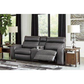Dexpen Saddle Double Reclining Loveseat W Console