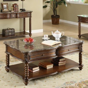 Vador Coffee Table Chrome Furniture Of America 1
