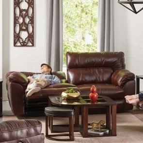 Durablend Natural Reclining Sofa W Power Signature