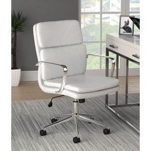 Unico Office Chair White Zuo Modern Furniture Cart