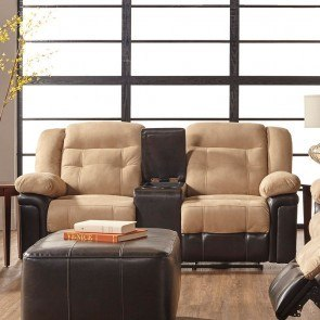 Astounding Vacherie Black Double Reclining Loveseat W Console Onthecornerstone Fun Painted Chair Ideas Images Onthecornerstoneorg
