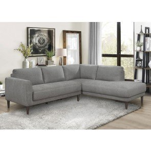 Zella Charcoal Left Facing Chaise Sectional Signature