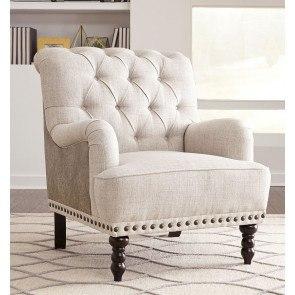 Breville Burlap Accent Chair Signature Design By Ashley