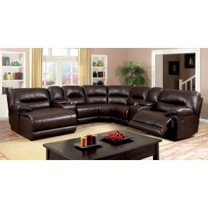 Presley Cocoa Reclining Sectional Signature Design Furniture Cart