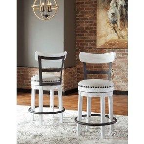Oppulente Swivel Barstool Set Of 2 Aico Furniture 2