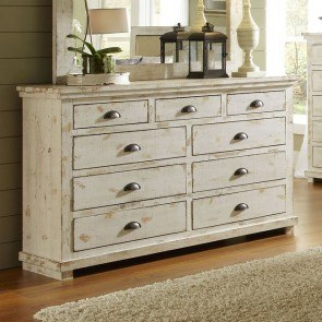 Bon Willow Drawer Dresser (Distressed White)