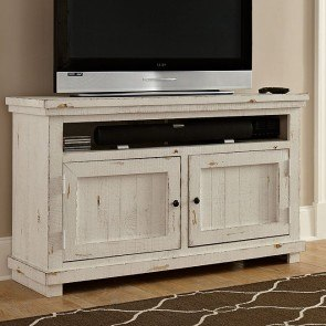 Exceptionnel Willow 54 Inch Entertainment Console (Distressed White)