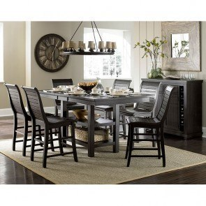 Willow Rectangular Counter Height Dining Set (Distressed Black)