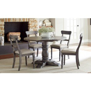 Muses Round Dining Room Set W/ Ladderback Chairs