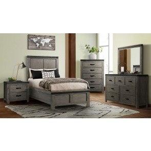 Vogue Upholstered Bedroom Set Glossy White Standard