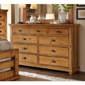 Willow Drawer Dresser Distressed Pine